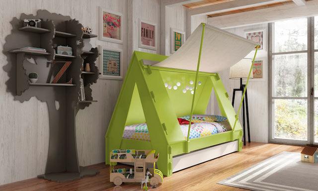 Cama em forma de tenda para crianças do Mathy by Bols