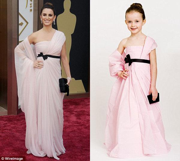 Vestido feito por Angie e sua filha Mayhem com inspiração na Penelope Cruz no Oscar 2014
