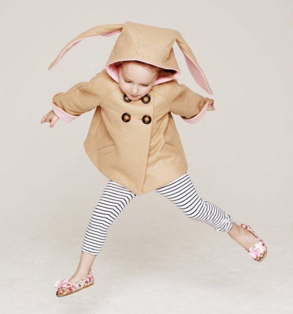 Casaco de criança com capuz de coelho no Etsy