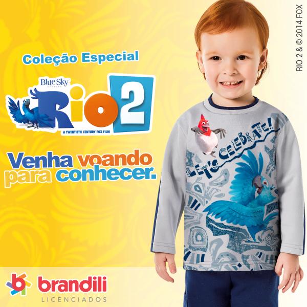 Roupa infantil do filme Rio 2