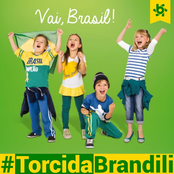 Torcida de crianças Brandili na Copa do Mundo