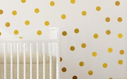 Papel de parede dourado infantil