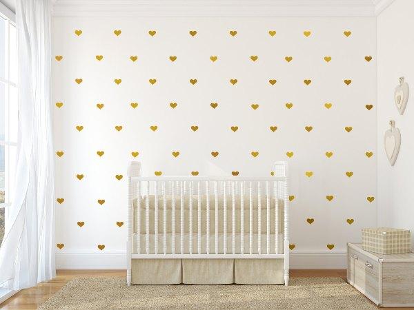 5 papéis de parede com estampas douradas que deixam o quarto das crianças inc