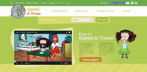 Site de troca de brinquedos pela internet