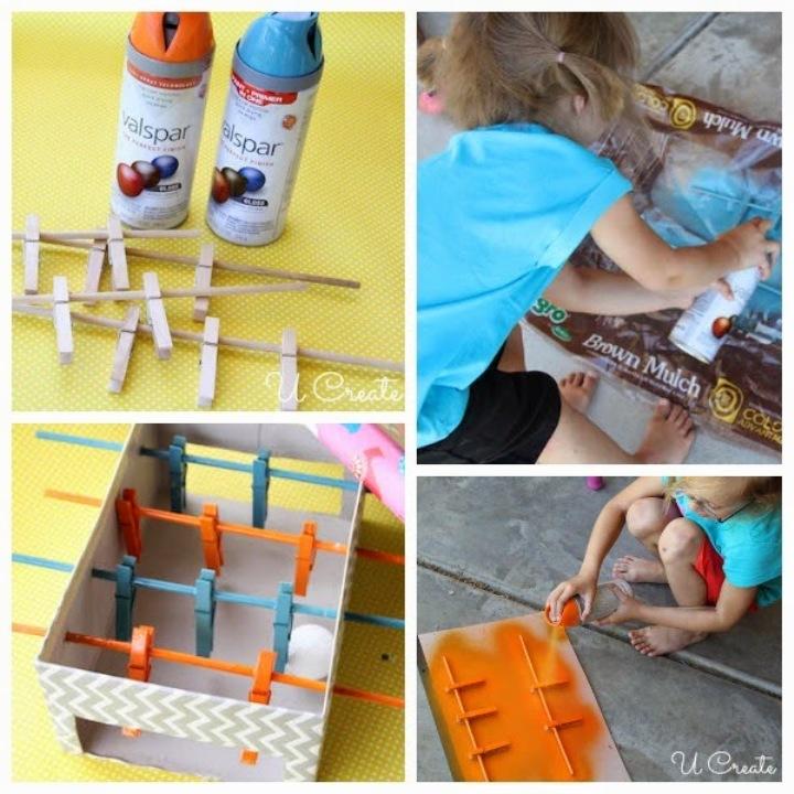 Passo-a-passo de como fazer um jogo de pebolim para as crianças