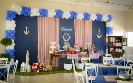 Inspiração náutica para festa de aniversário de criança
