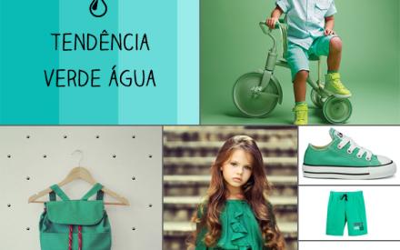 Roupa infantil verde água Brandili