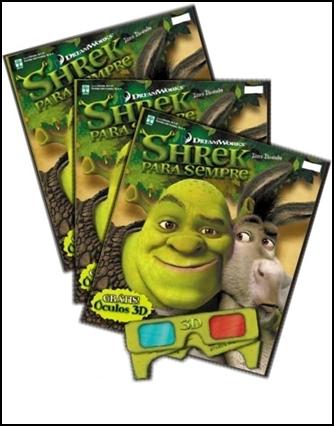 Sorteio do álbum 3D do Shrek
