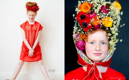 Editorial de moda infantil da primavera 2014 com flores