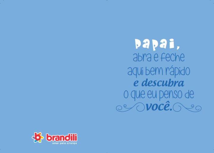 Cartão do dia dos pais 2014 para imprimir da Brandili