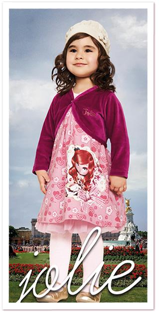 Roupa infantil com estampa da boneca Jolie