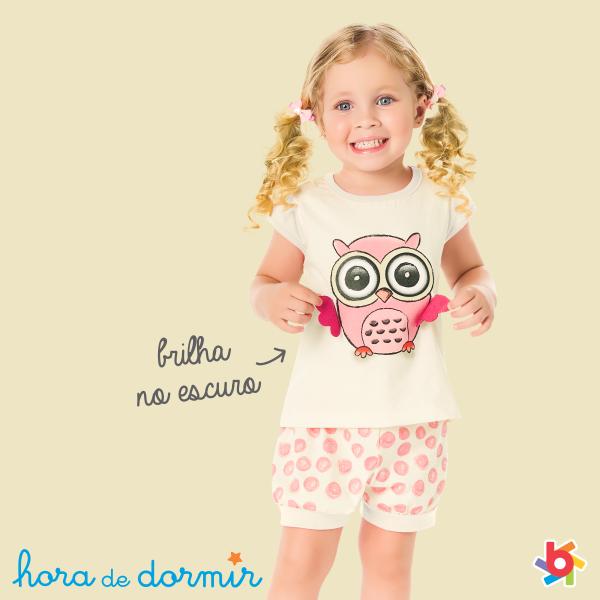 Pijamas infantis masculinos e femininos Primavera 2014 Brandili