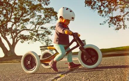 Bicicleta para criança de papel 100% reciclado