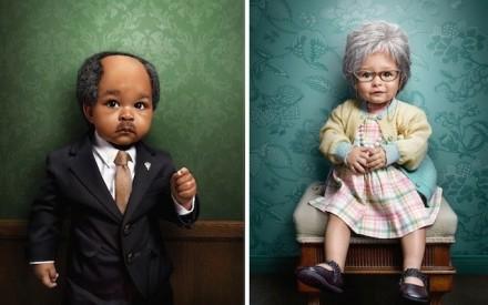 Zachary Scott Crianças vestidas de pessoas mais velhas