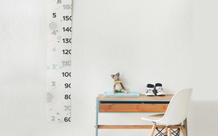 Régua para medir altura das crianças