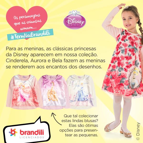 Roupa para criança das Princesas da Disney