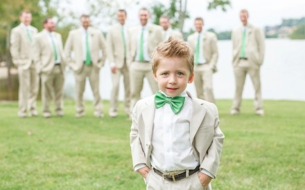 Look infantil festa de casamento