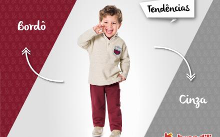 Tendência de roupas para criança Brandili
