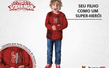 Roupa para criança Brandili + Homem-Aranha