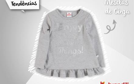 Cinza mescla moda infantil