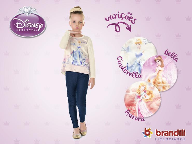 61ac849ee Roupa infantil Brandili + Princesas Disney