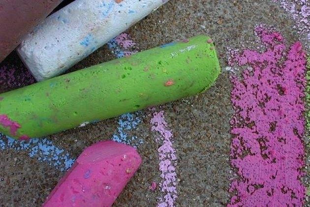Passo a passo giz colorido