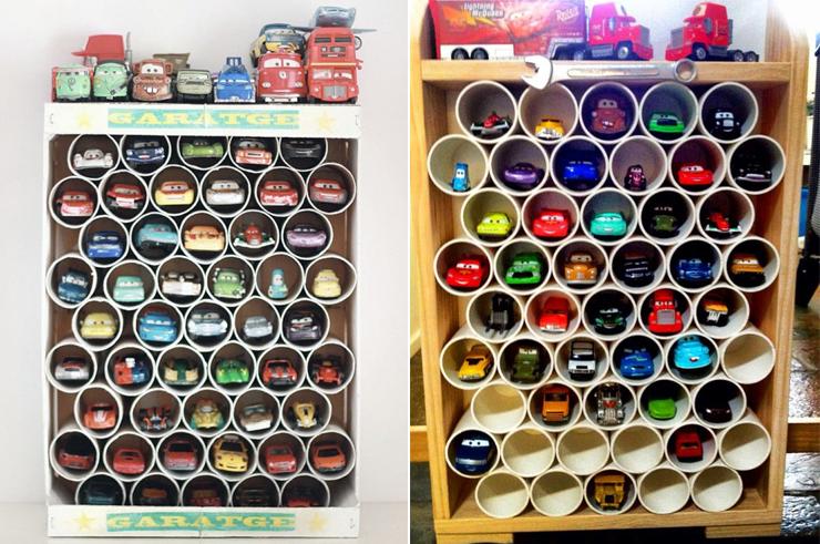 Dicas de como organizar os carrinhos de brinquedo das crianças