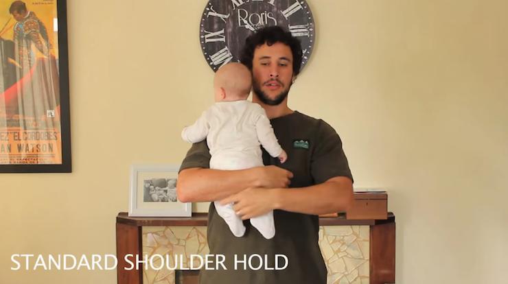 Como segurar o seu bebê