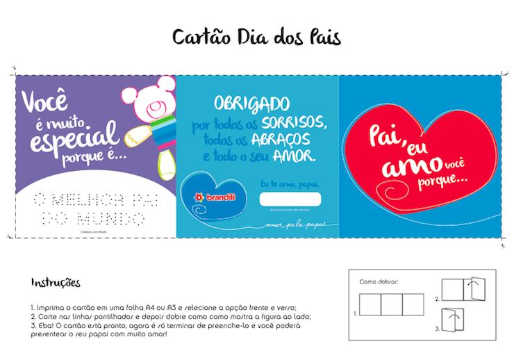 Para Presentear O Papai Cartão Customizável Grátis Para Imprimir