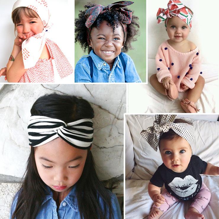 Meninas com lenço na cabeça