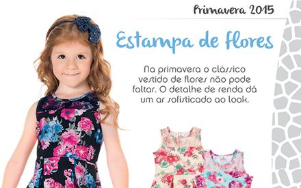 Tendência floral infantil Primavera 2015