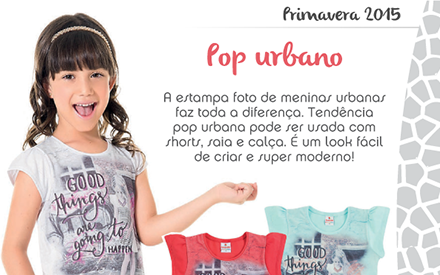 Estampa urbana para crianças