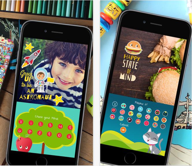 App de edição de fotos infantil