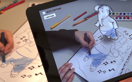 Disney inova e cria livro de colorir infantil com um app de realidade aumentada