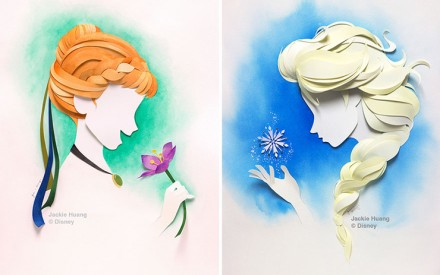 Artista transforma camadas de papel em personagens da Disney