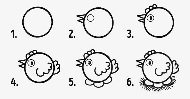 diversão em círculos 10 desenhos fáceis para fazer com os pequenos