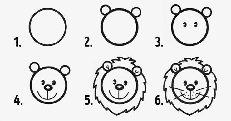 Top Diversão em círculos: 10 desenhos fáceis para fazer com os  GL46