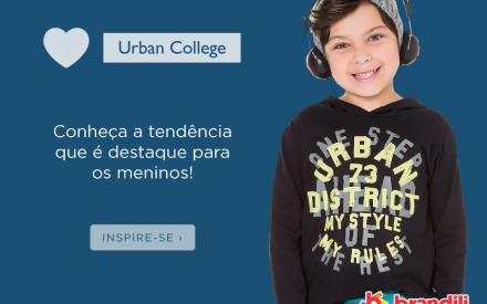 Moda infantil para meninos: conheça a tendência Urban College
