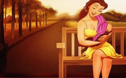 Ilustradora transforma princesas da Disney em mamães