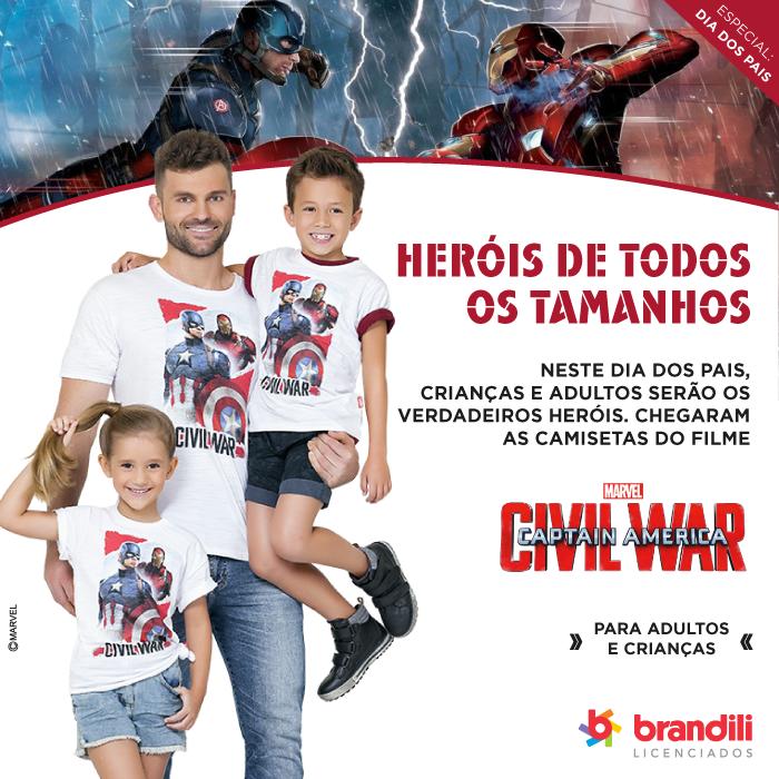 Especial Dia dos Pais: chegaram as camisetas do filme 'Capitão América: Guerra Civil'