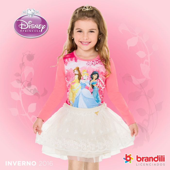 As princesas da Disney saíram das telas para enfeitar as roupas das pequenas