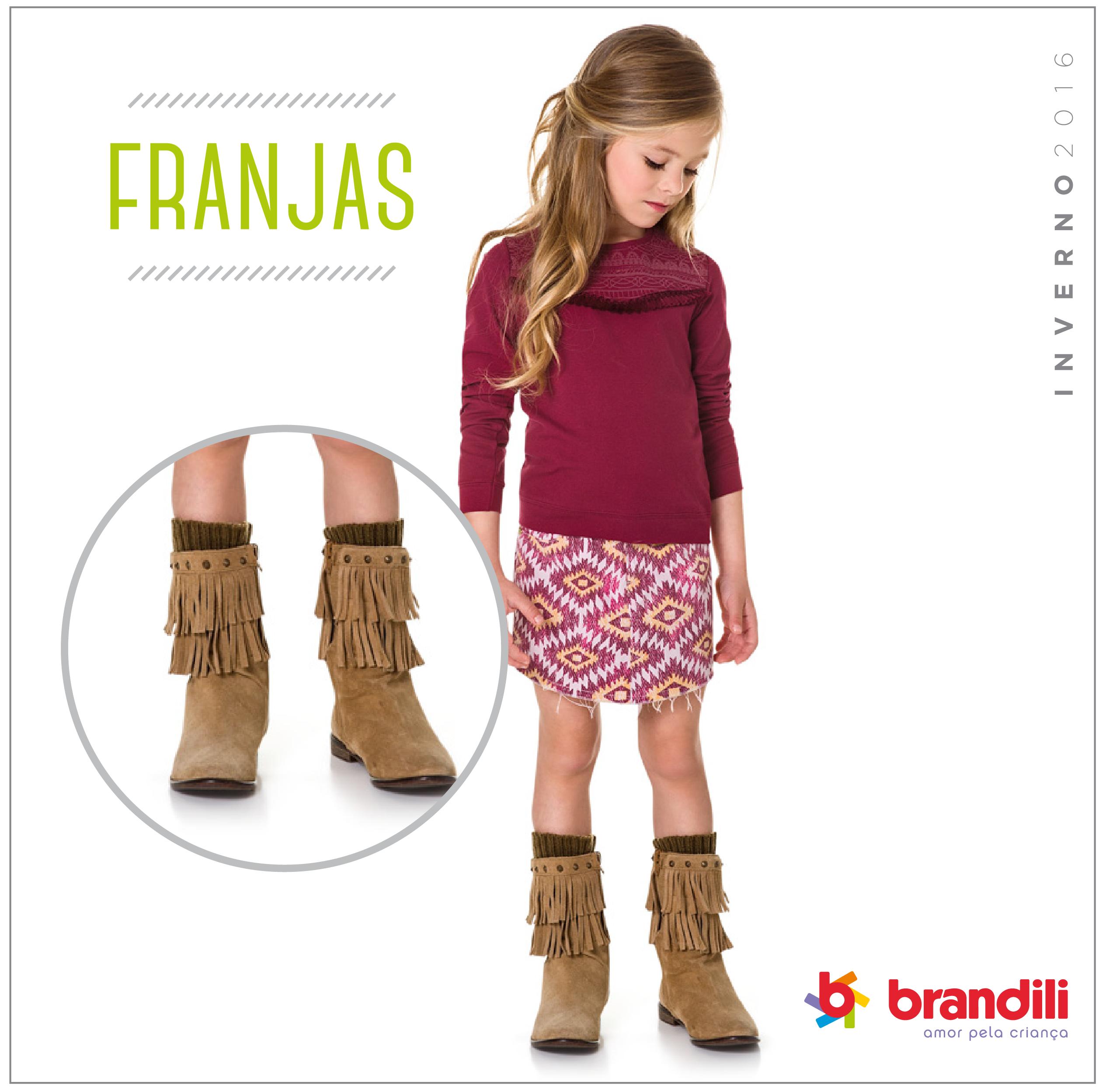 Franjas: movimento e estilo nos looks das pequenas
