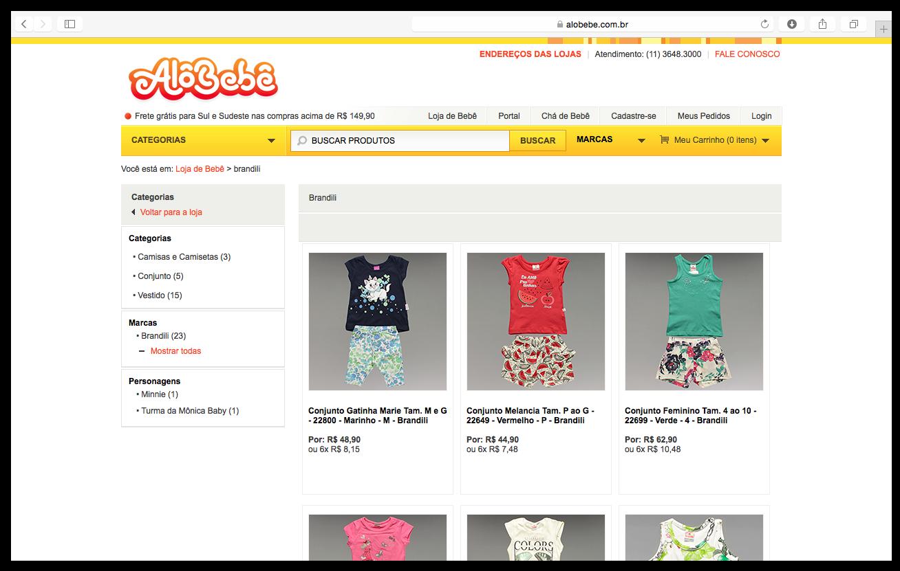 Alô Bebê  mais uma loja virtual onde você encontra as roupas da Brandili 7cc06a4a562