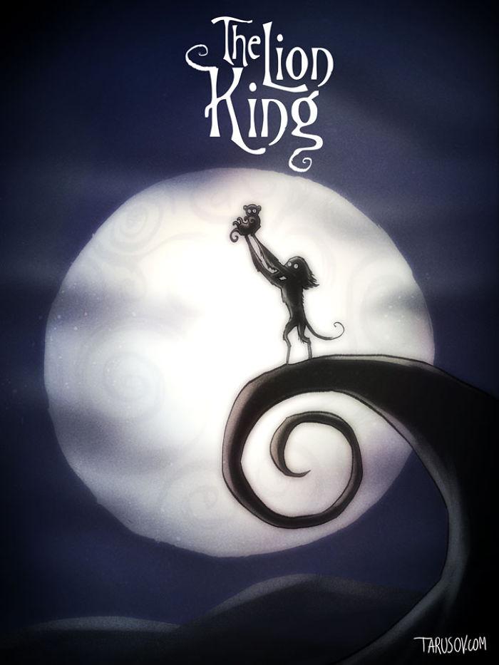 Como seriam os clássicos da Disney se dirigidos por Tim Burton