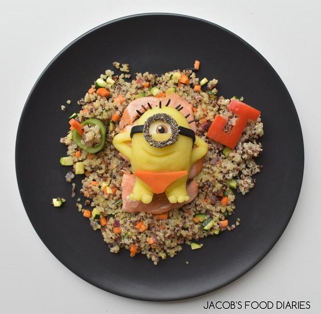 Comida divertida: mãe transforma alimentos saudáveis em personagens da Disney