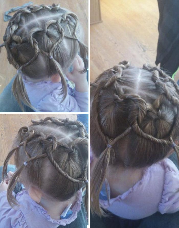 Pai ensina outros pais a fazerem penteados nas filhas