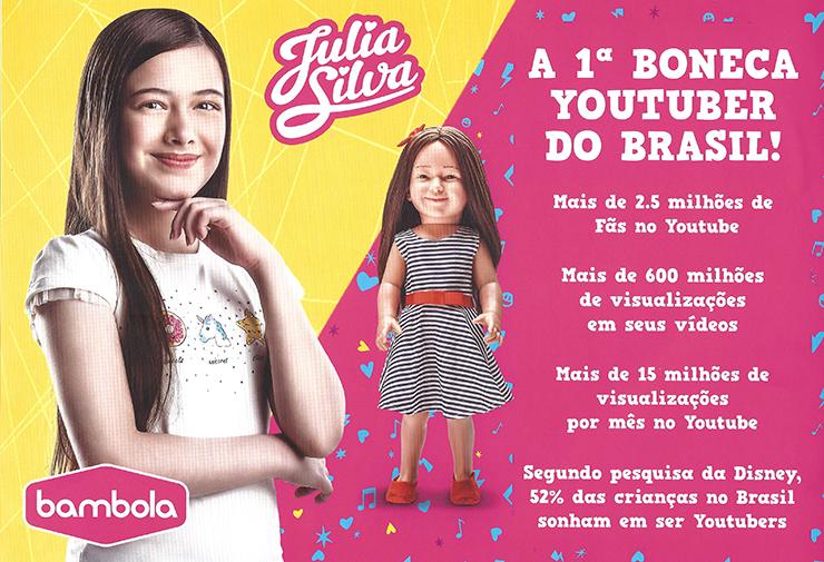 Bambola lança a primeira boneca youtuber mirim do Brasil com Julia Silva