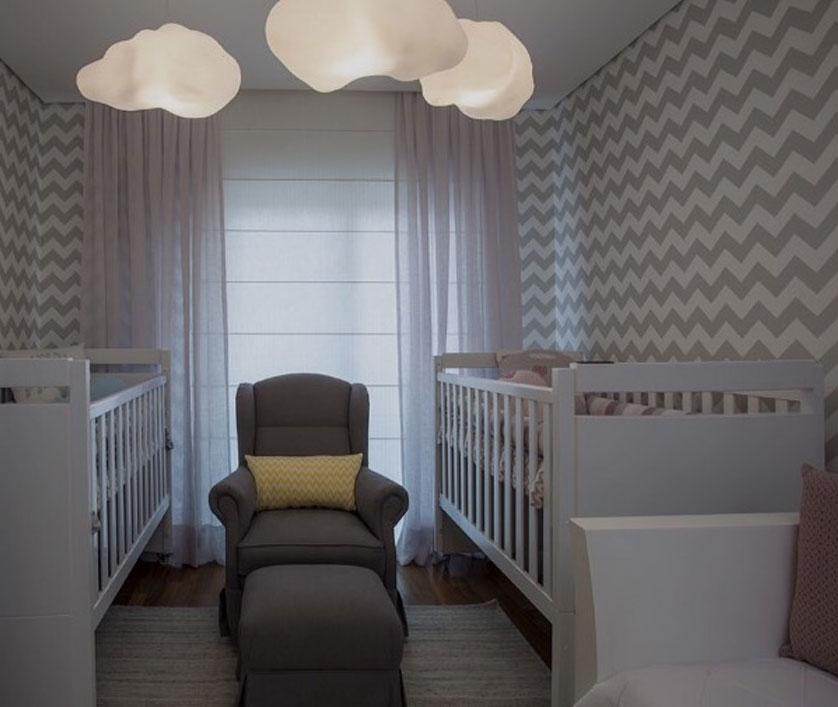 Papéis de parede geométricos: inspirações para montar um quarto de bebê especial