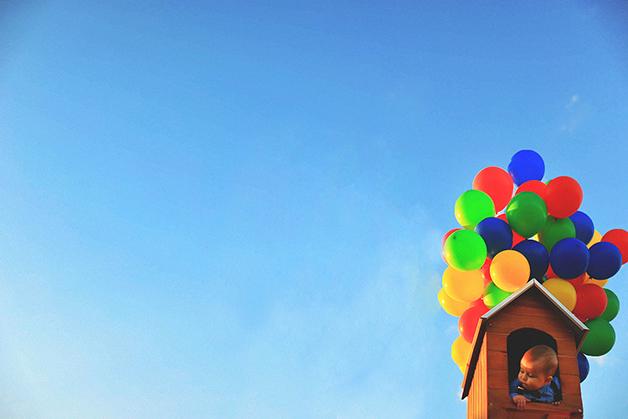 Fofura nas alturas: ensaio fotográfico inspirado em animação da Pixar encanta internet