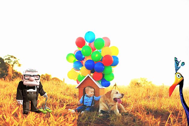 Fofura nas alturas: esse ensaio fotográfico inspirado na animação da Pixar vai alegrar seu dia